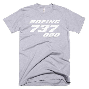PILOTSX T-shirt Heather Grey / XS Boeing 737-800 T-Shirts