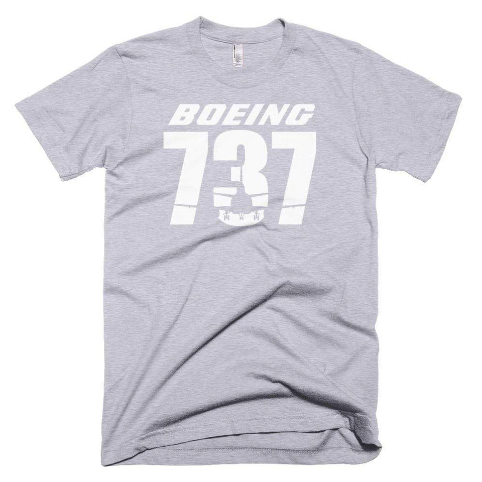 PILOTSX T-shirt Heather Grey / XS Boeing 737 T-Shirts