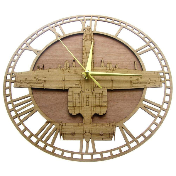PILOTSX Wall Clock A-10 Thunderbolt II Warthog Jetfighter Wooden Wall Clock