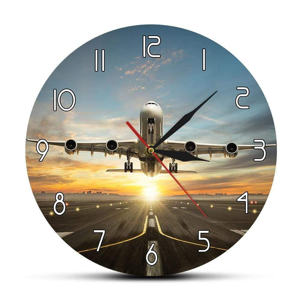 PILOTSX Wall Clock A340 Commercial Jetliner Wall Clock