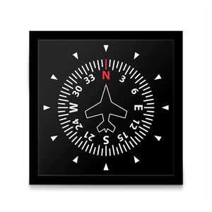 PILOTSX Wall Clock Aircraft Instrument Flight Control Panel Clever Clock