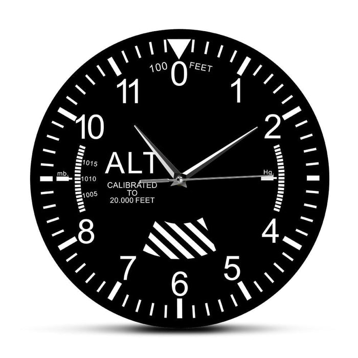 PILOTSX Wall Clock Classic Altimeter Round Wall Clock