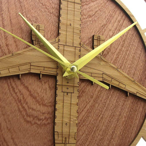 PILOTSX Wall Clock Embraer 175 Wooden Wall Clock
