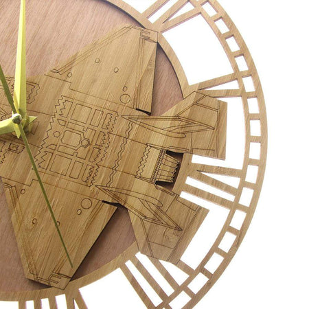 PILOTSX Wall Clock F-35 A Lightning II Airplane Wooden Wall Clock