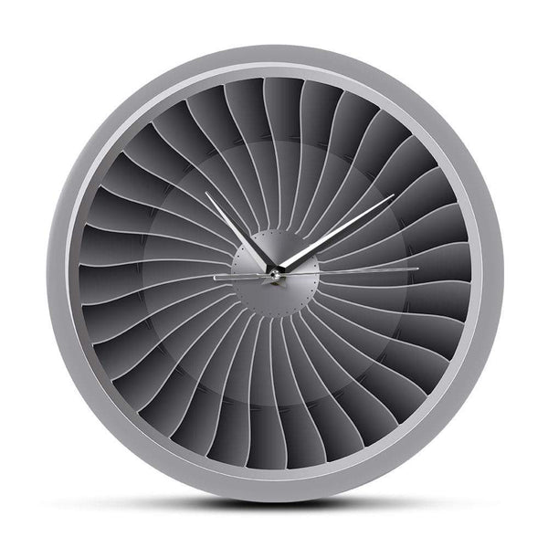 PILOTSX Wall Clock Jet Engine Turbine Fan Aviator Wall Clock
