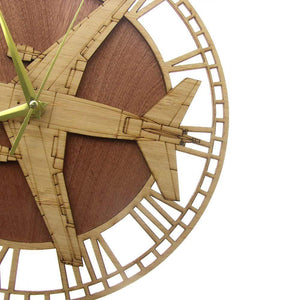 PILOTSX Wall Clock KC-10 Extender Wooden Wall Clock