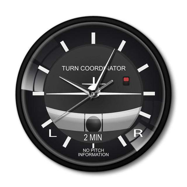 PILOTSX Wall Clock No Frame Aviation Classic Silent Non Ticking Wall Clock
