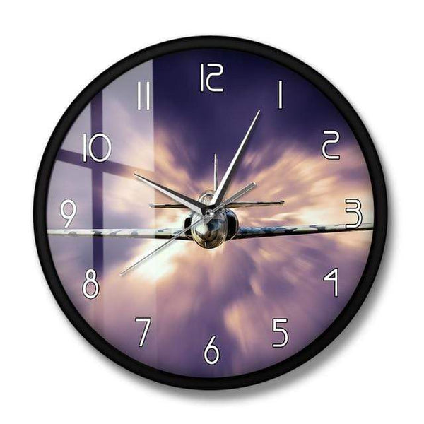 PILOTSX Wall Clock No Frame Military Jet Fighter Modern Wall Clock
