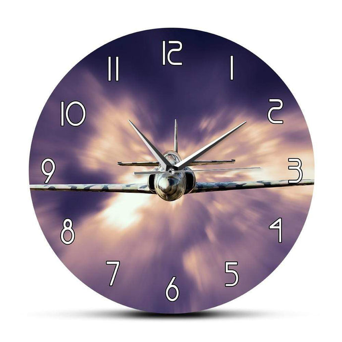 PILOTSX Wall Clock Military Jet Fighter Modern Wall Clock