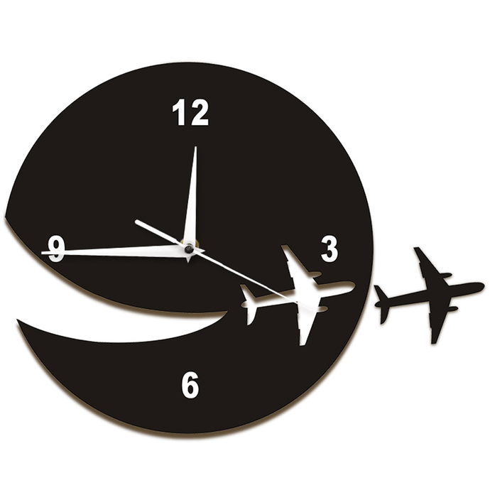 PILOTSX Wall Clock My Plane Flew Away Wall Art Home Decor Wall Clock