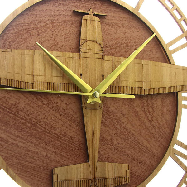 PILOTSX Wall Clock Piper PA-28 Warrior Wooden Wall Clock