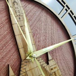 PILOTSX Wall Clock SR-71 Blackbird Aviation Wooden Wall Clock