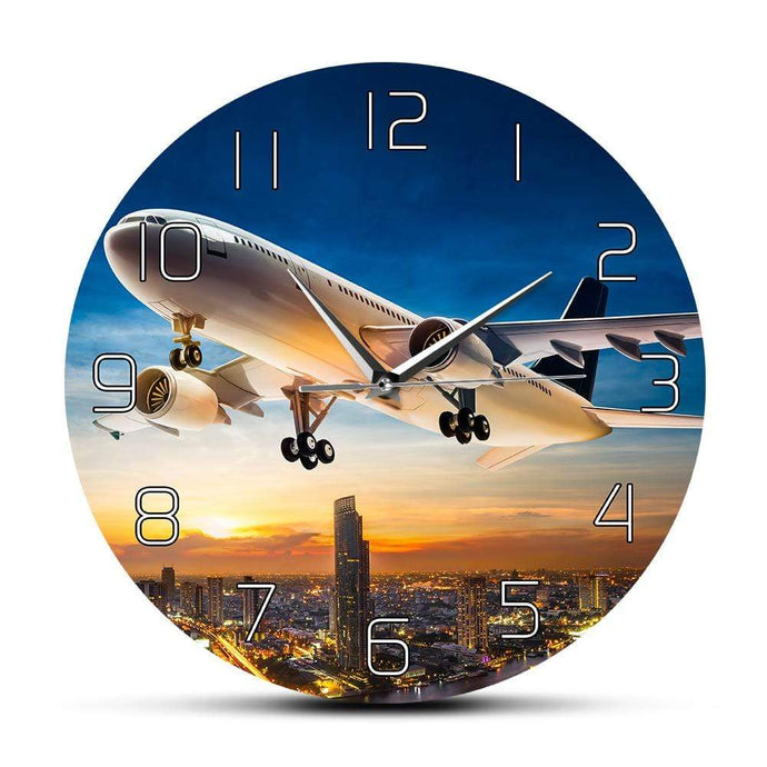 PILOTSX Wall Clock Take Off Sunset