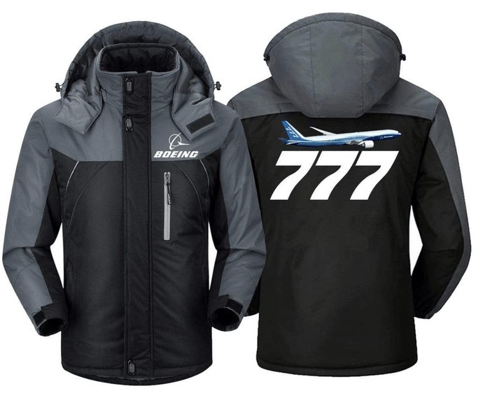 PILOTSX Windbreaker Jackets Black Gray / S BOEING -777