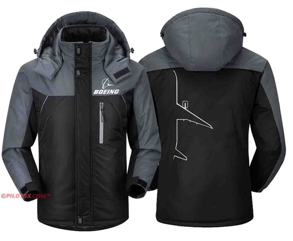 PILOTSX Windbreaker Jackets Black Gray / S Boeing 777 Shadow jacket