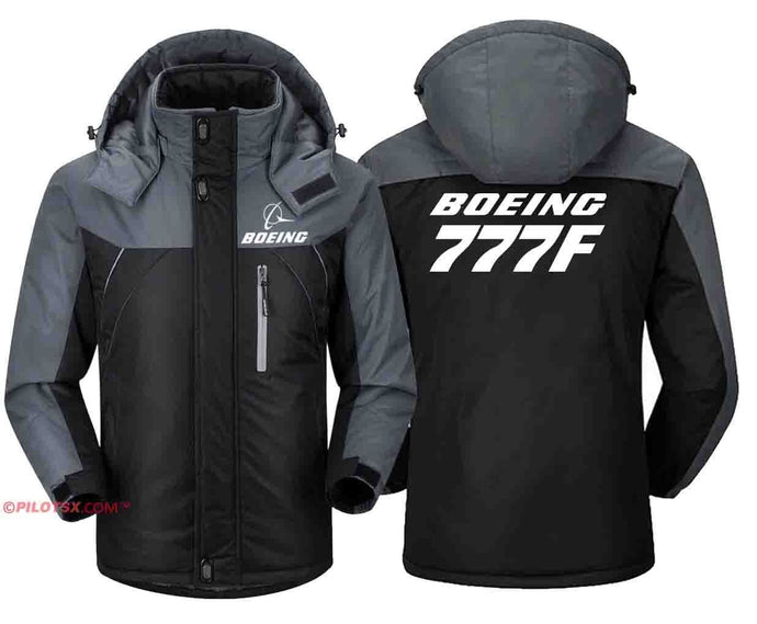 PILOTSX Windbreaker Jackets Black Gray / S Boeing 777F Jacket