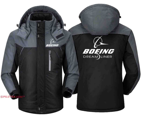 PILOTSX Windbreaker Jackets Black Gray / S Boeing 787 Dreamliner