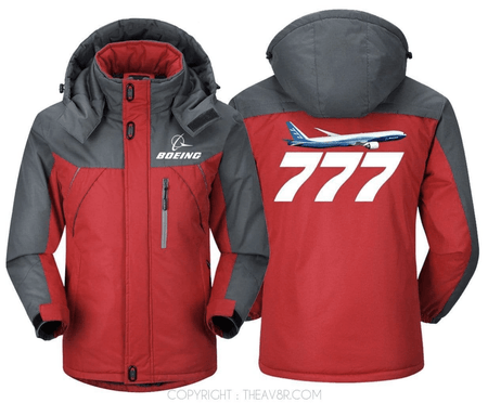 PILOTSX Windbreaker Jackets Blue Gray / S BOEING -777