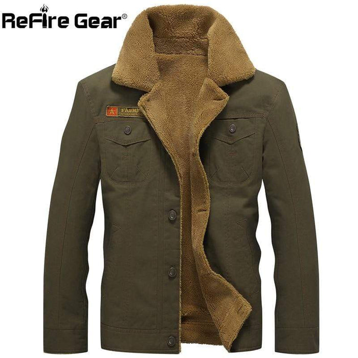 PILOTSX Winter Army Airborne Pilot Jacket
