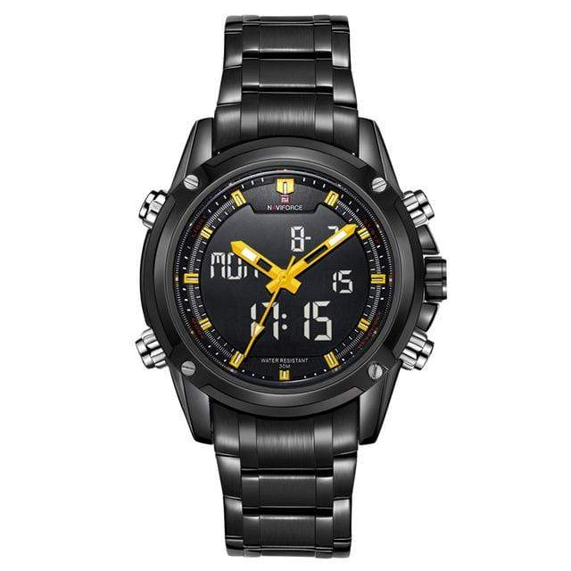 PILOTSX Yellow Men Military Waterproof LED Sport Watches