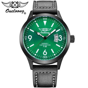 PilotX Green F-88 Air Fighter Pilot Watch