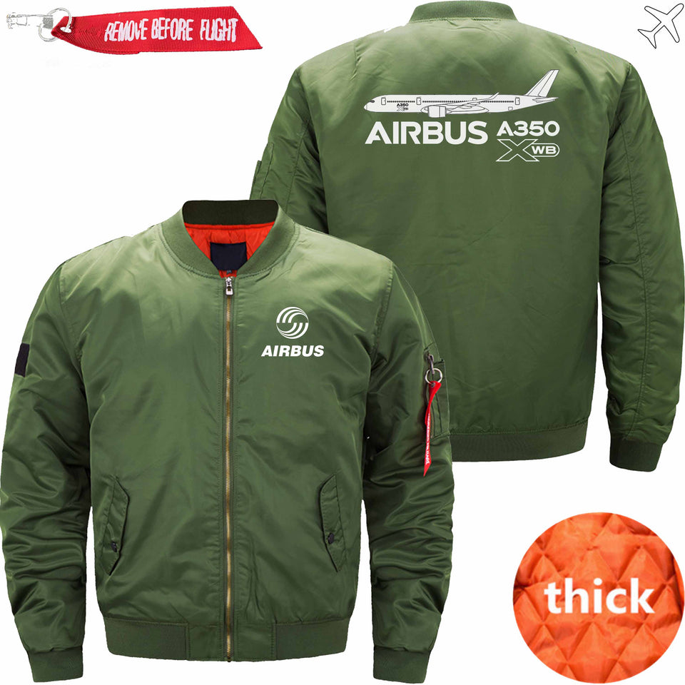 PilotX Jacket Army green thick / S Airbus A350 XWB Aircraft Jacket -US Size