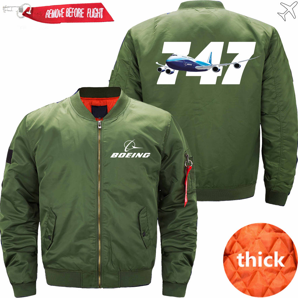 PilotX Jacket Army green thick / S B 747 Jacket -US Size