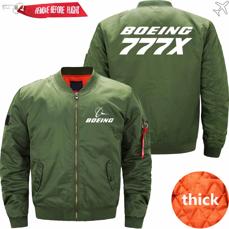PilotX Jacket Army green thick / S B 777X Jacket -US Size