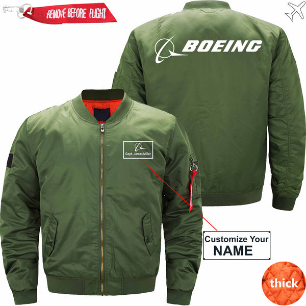 PilotX Jacket Black thin / S B logo CUSTOM NAME JACKET Jacket -US Size