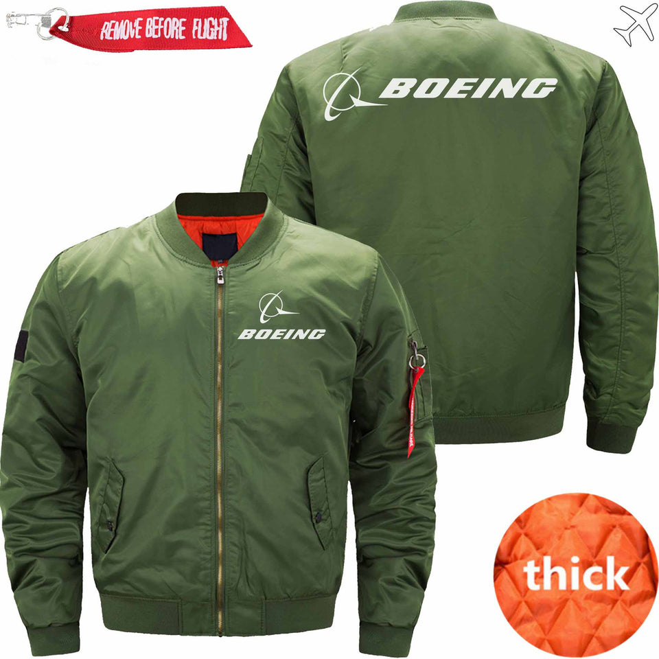 PilotX Jacket Army green thick / S B LOGO Jacket -US Size