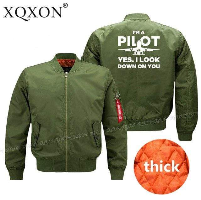 PilotX Jacket Army green thick / S Funny Airplane Pilot Jacket -US Size