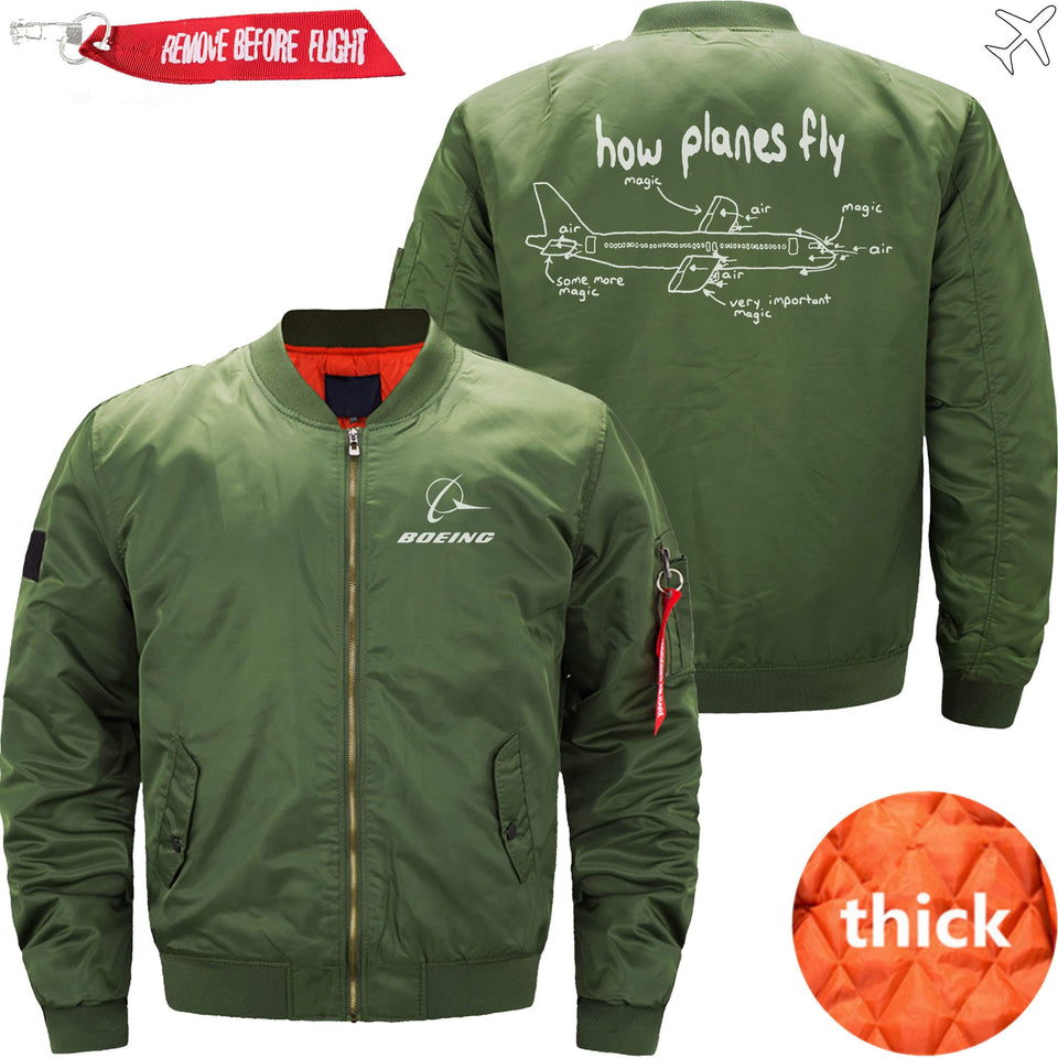 PilotX Jacket Army green thick / S How Planes Fly Jacket -US Size