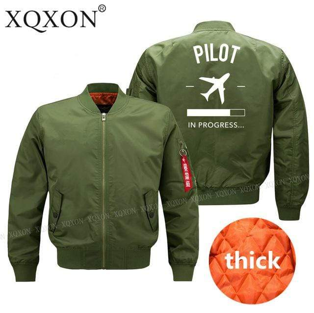 PilotX Jacket Army green thick / S Pilot in Progress Jacket -US Size