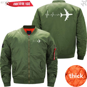 PilotX Jacket Army green thick / S PILOT 'S HEARTBEAT Jacket -US Size
