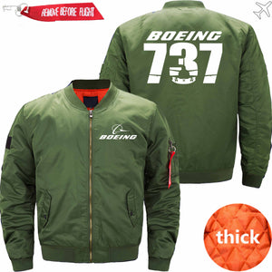 PilotX Jacket Army green thick / S The-737 Jacket -US Size