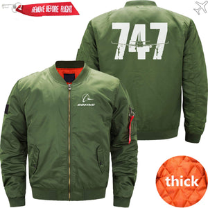 PilotX Jacket Army green thick / S The 747 Jacket -US Size