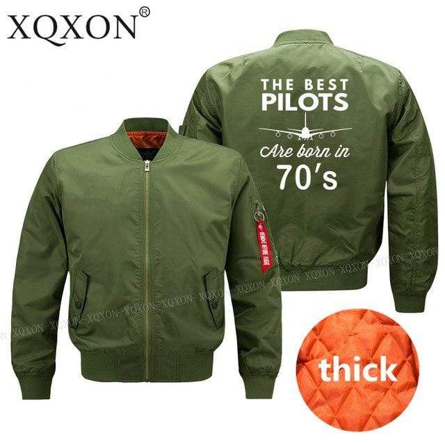 PilotX Jacket Army green thick / S The best pilots are born in 70's Jacket -US Size