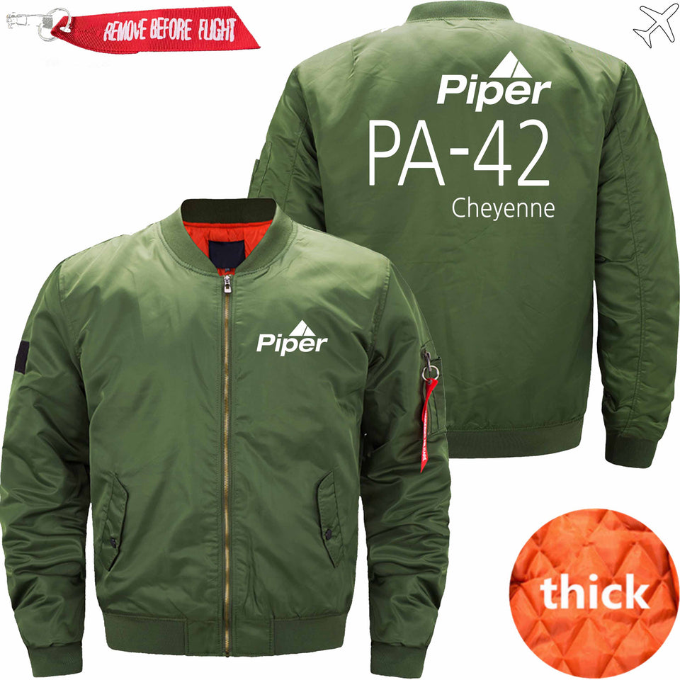 PilotX Jacket Army green thick / S (US XXS) Piper PA-42 Jacket -US Size