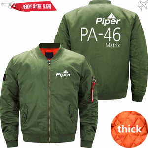 PilotX Jacket Army green thick / S (US XXS) Piper PA-46 Jacket -US Size