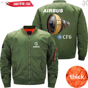 PilotX Jacket Army green thick / XS Airbus & CF6 Jacket -US Size