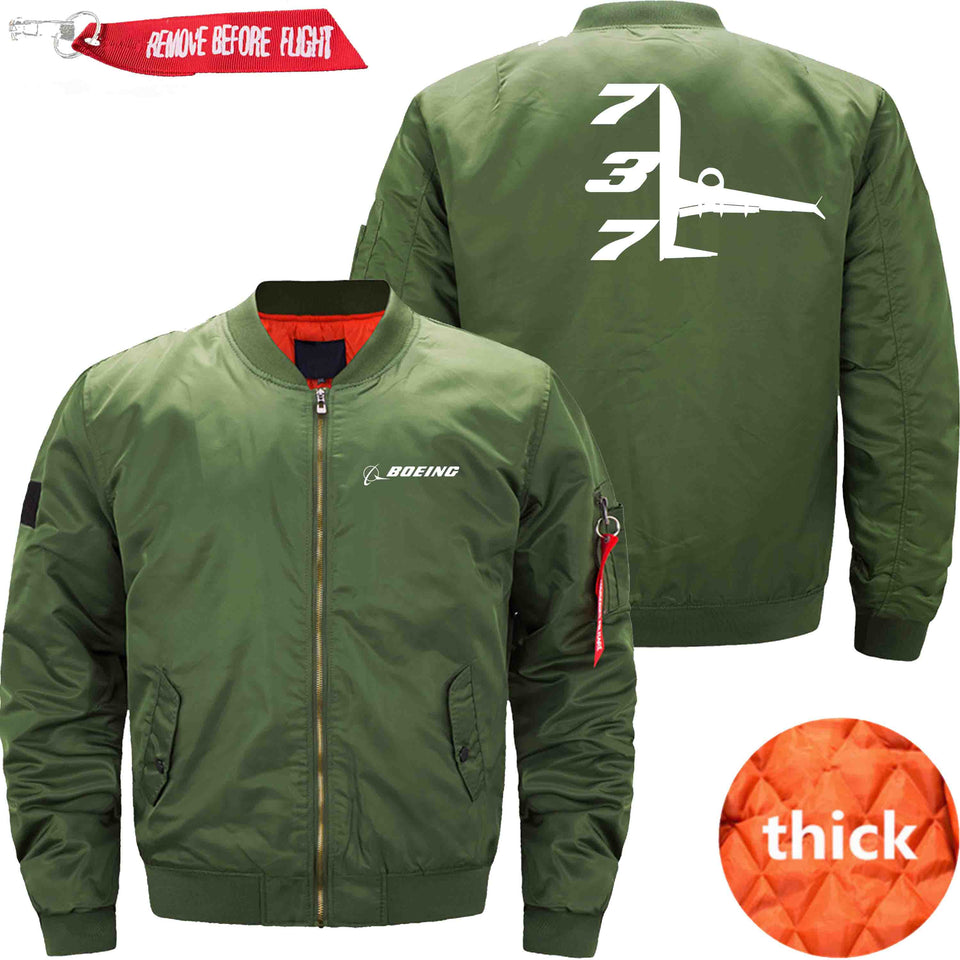 PilotX Jacket Army green thick / XS B 737 Jacket -US Size