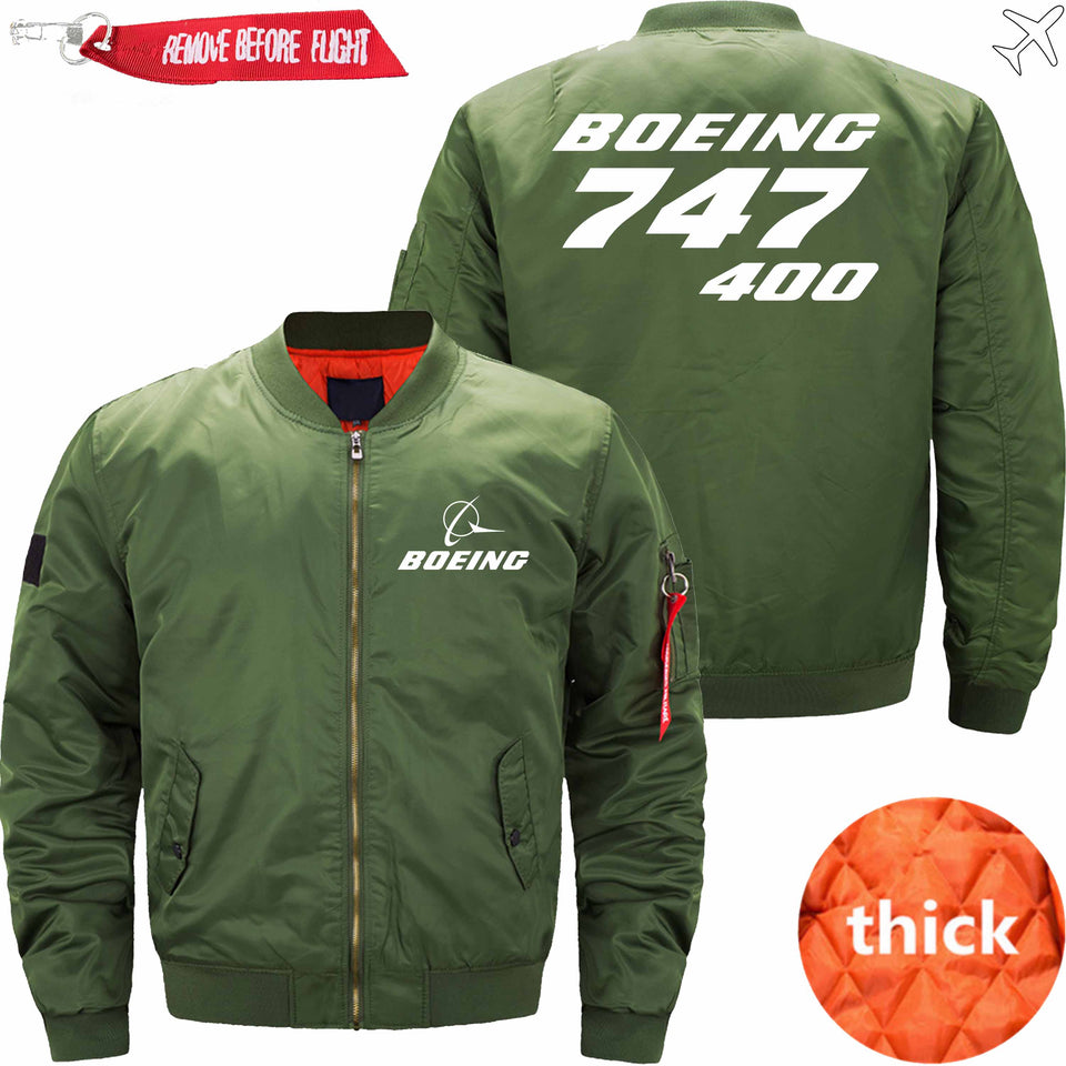 PilotX Jacket Army green thick / XS B 747-400 Jacket -US Size
