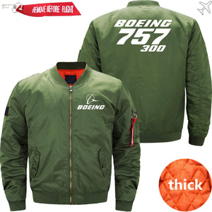 PilotX Jacket Army green thick / XS Boeing 757-300 -US Size