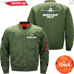 PilotX Jacket Army green thick / XS Boeing 757 -US Size
