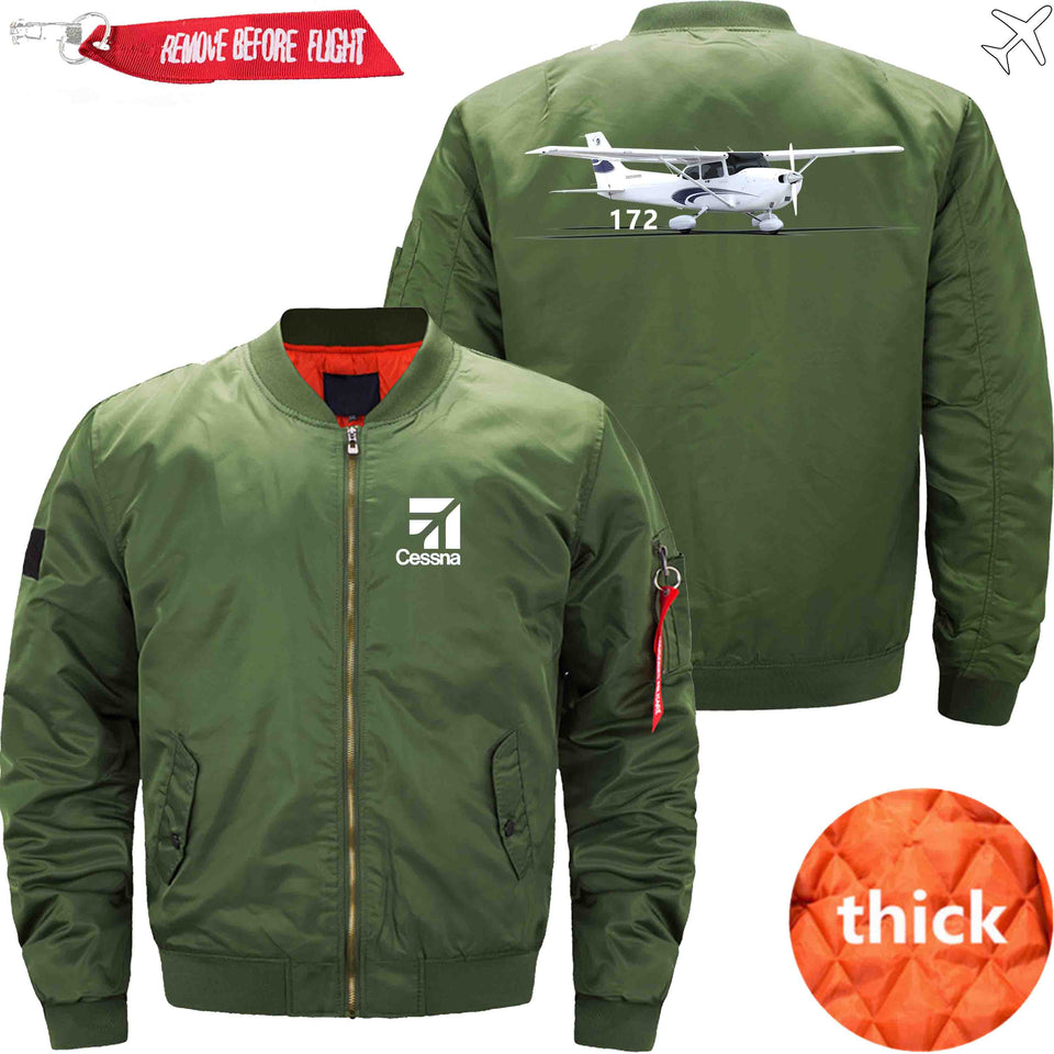 PilotX Jacket Army green thick / XS CESSNA 172 Jacket -US Size