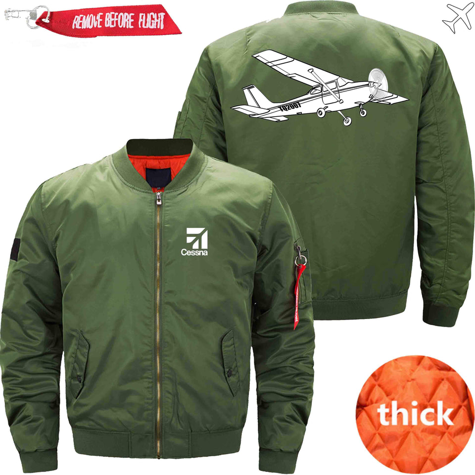 PilotX Jacket Army green thick / XS CESSNA Jacket -US Size