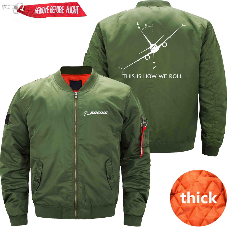 PilotX Jacket Army green thick / XS THIS IS HOW WE ROLL B737 Jacket -US Size