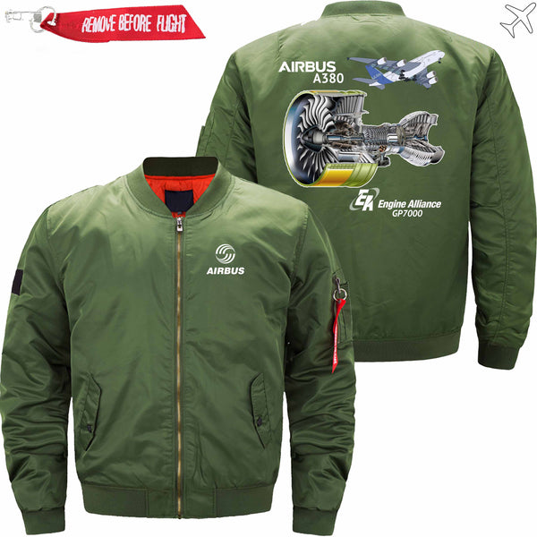 PilotX Jacket AIRBUS A380 GP7000 ENGINE Jacket -US Size