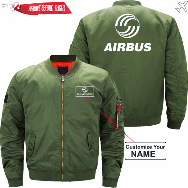 PilotX Jacket Dark blue thick / S Airbus CUSTOM NAME JACKET Jacket -US Size