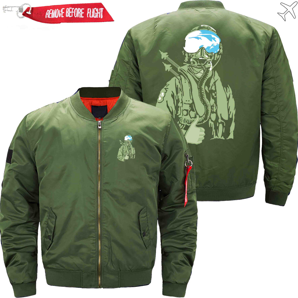 PilotX Jacket Army green thin / S Ames Bros F 15 Jacket -US Size